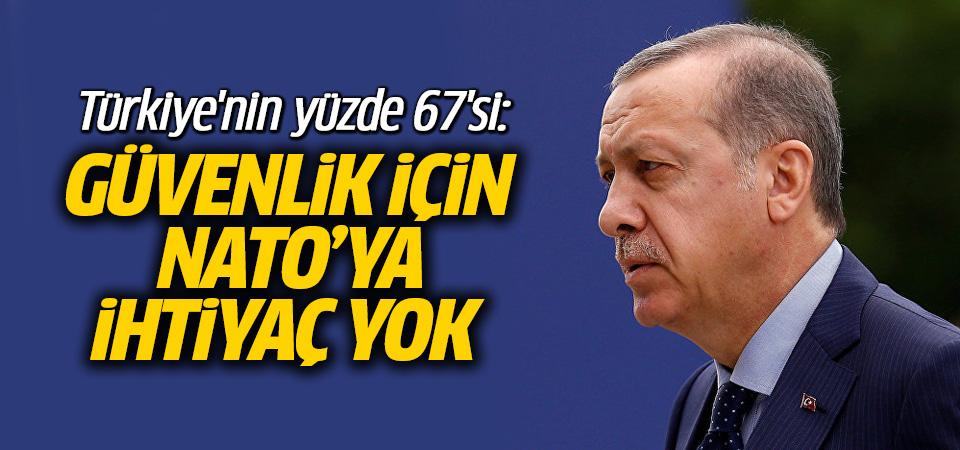 Türkiye'nin yüzde 67'si: Güvenlik için NATO'ya ihtiyaç yok