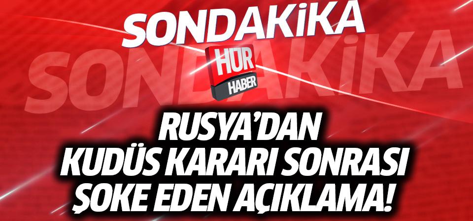 Rusya'dan Türkiye'ye Kudüs mesajı! Hemfikir değiliz