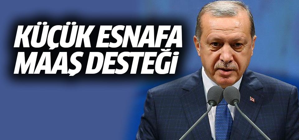 Erdoğan'dan küçük esnafa maaş desteği müjdesi