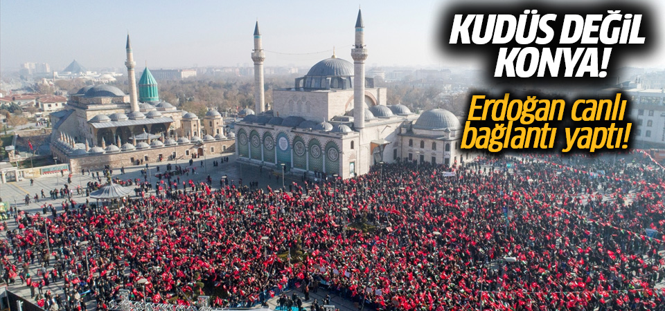 Konya'da Kudüs mitingi