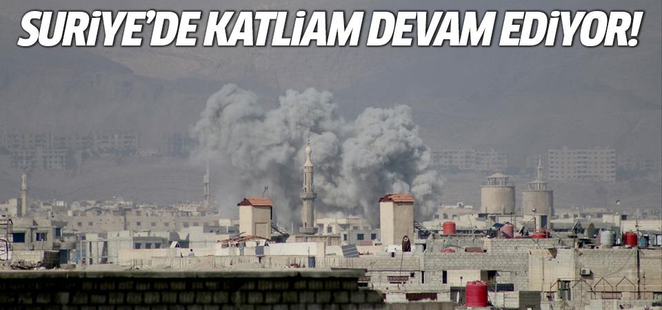 Esed rejiminin Doğu Guta'ya hava ve kara saldırıları devam ediyor