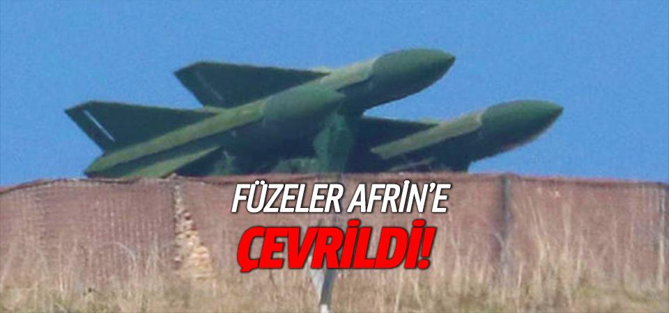 Sınırda konuşlanan füzeler Afrin'e çevrildi