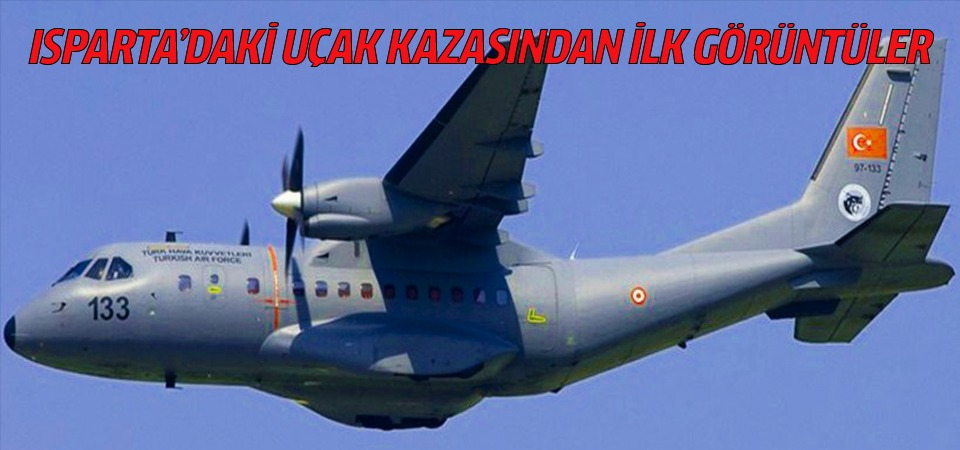 Isparta'daki uçak kazasından ilk görüntüler