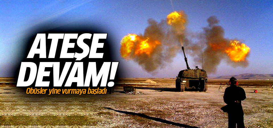 TSK'dan Afrin'deki terör hedeflerine topçu atışı