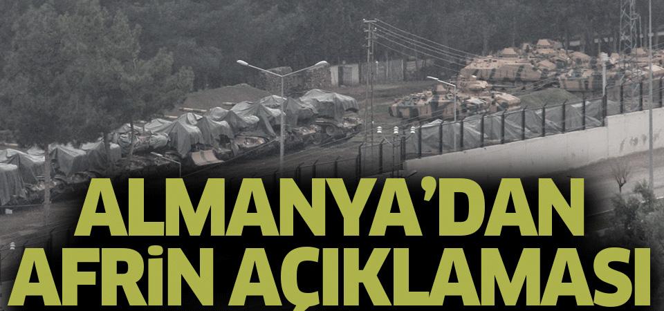 Almanya'nın Afrin uyarısı: Türkiye itidalli davranmalı
