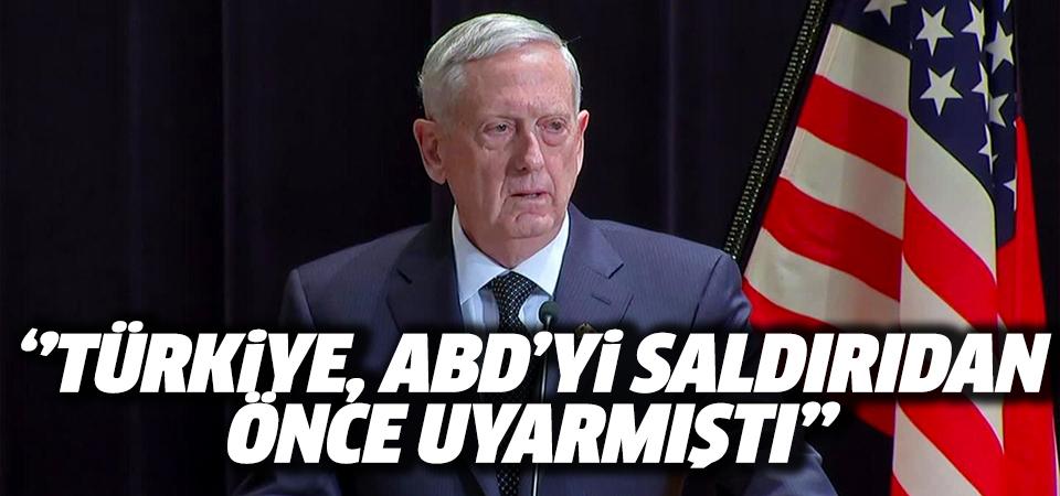Jim Mattis: Türkiye hava saldırısı yapmadan önce bizi uyardı