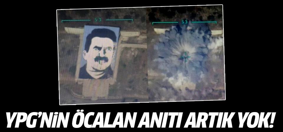 F-16'lar YPG'nin Öcalan anıtını imha etti