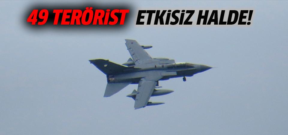 TSK: Irak'ın kuzeyinde 49 terörist etkisiz hale getirildi