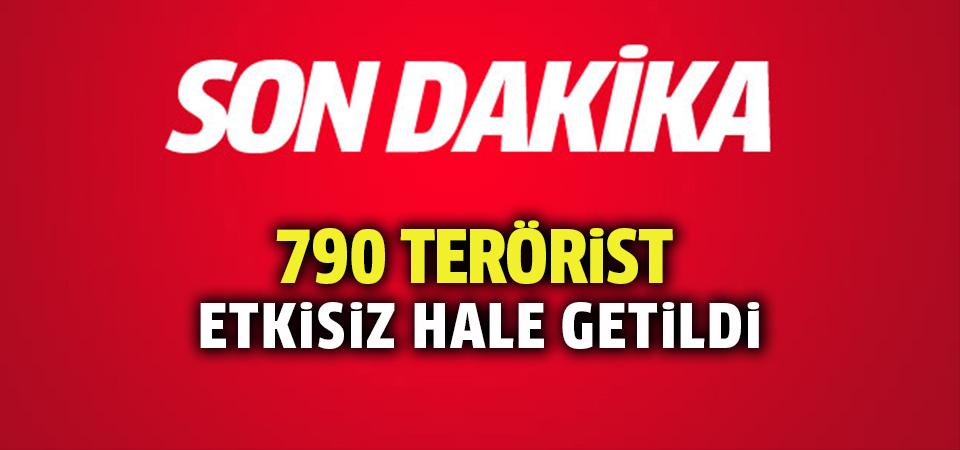 Zeytin Dalı Harekatı'nda 790 terörist etkisiz hale getirildi