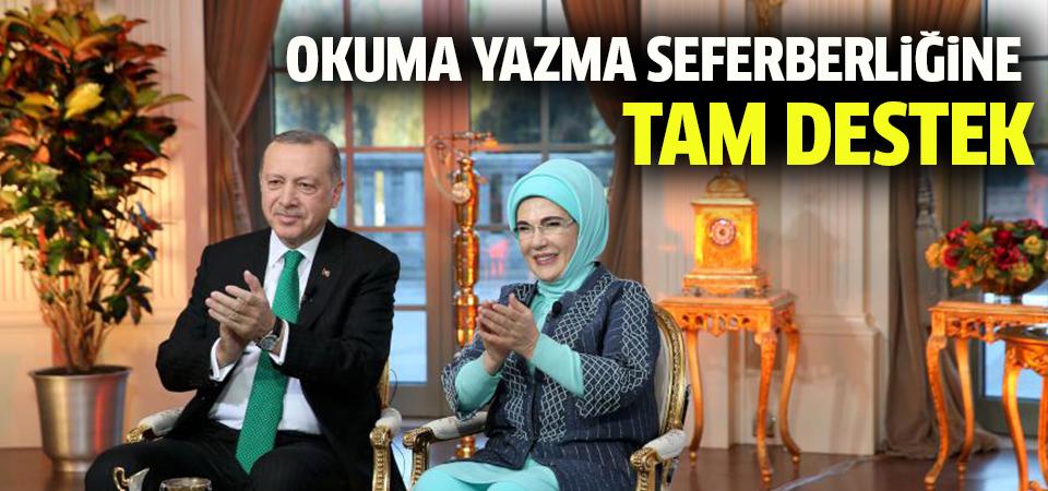 Cumhurbaşkanı Erdoğan'dan okuma-yazma seferberliğine tam destek