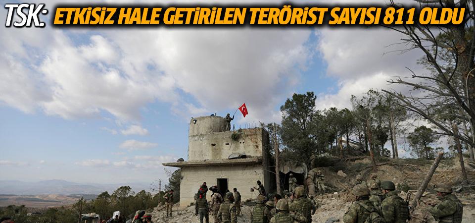 TSK: Etkisiz hale getirilen terörist sayısı 811 oldu