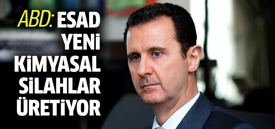 ABD: Esad yeni kimyasal silahlar üretiyor olabilir