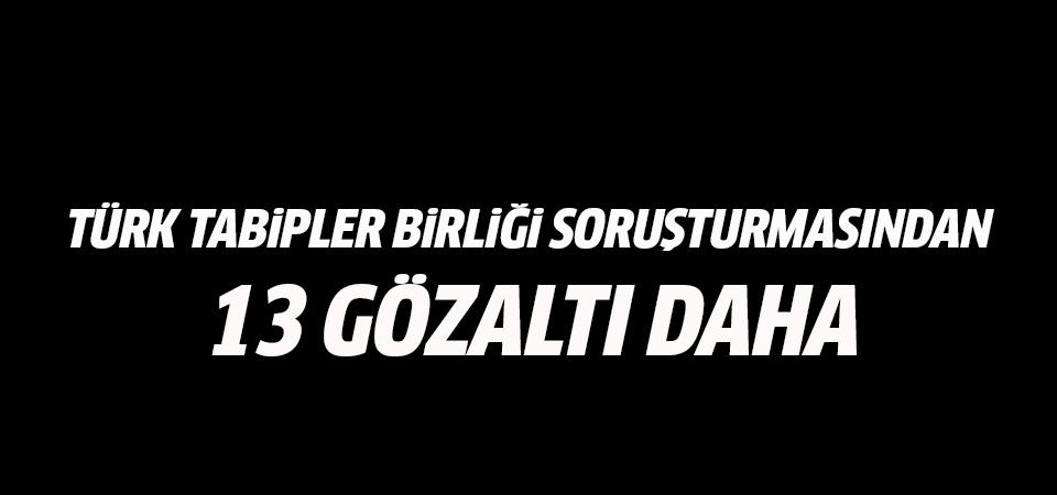 Türk Tabipleri Birliği soruşturmasında 13 gözaltı daha