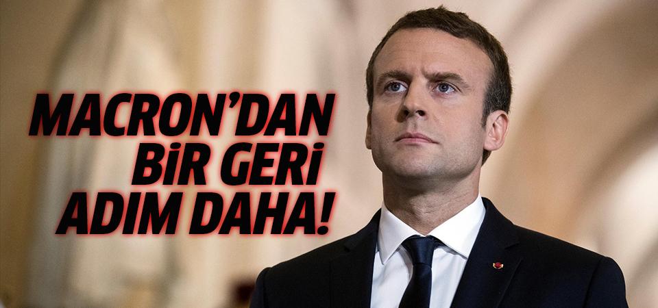 Macron geri adım attı!