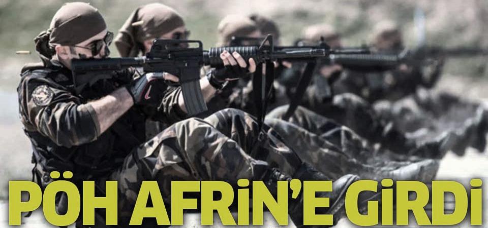 Polis Özel Harekat Afrin'e girdi