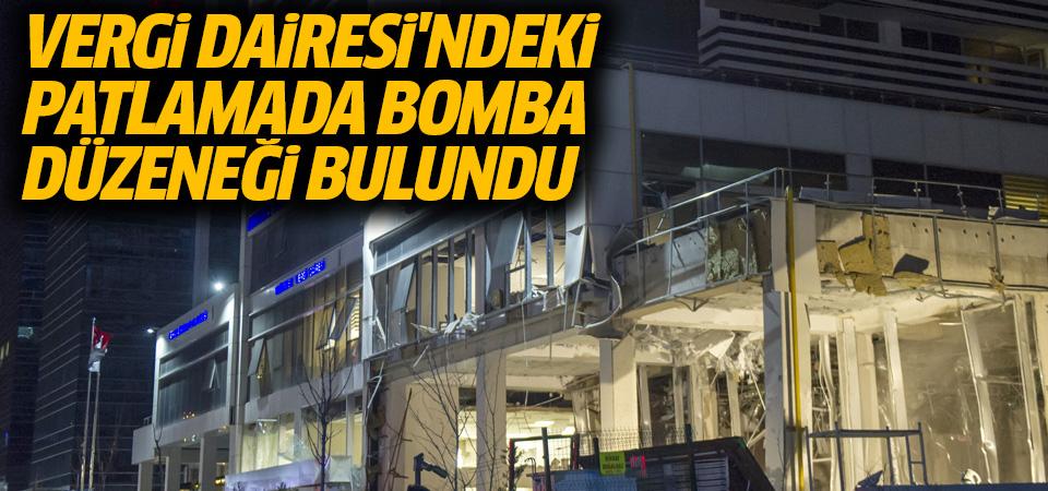 Vergi Dairesi'ndeki patlamada bomba bulguları var