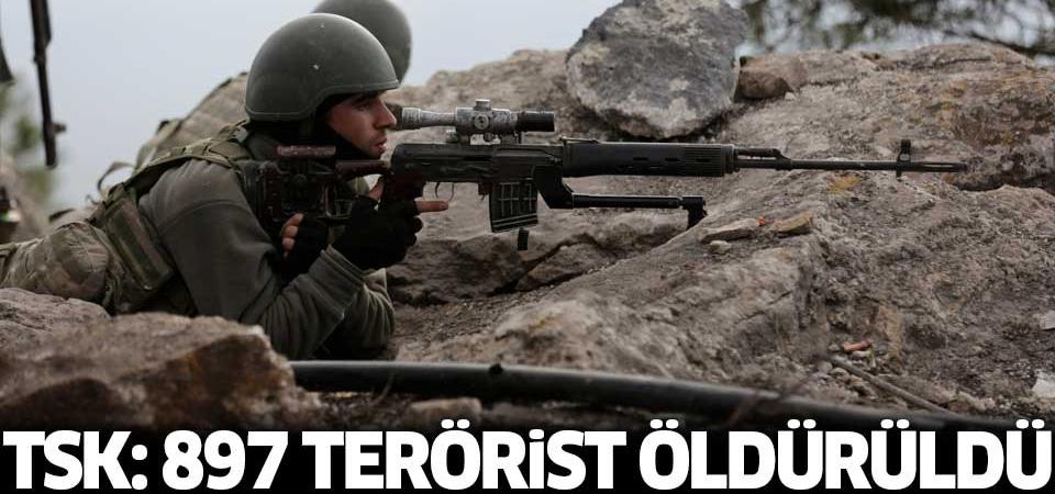 TSK: 897 terörist öldürüldü