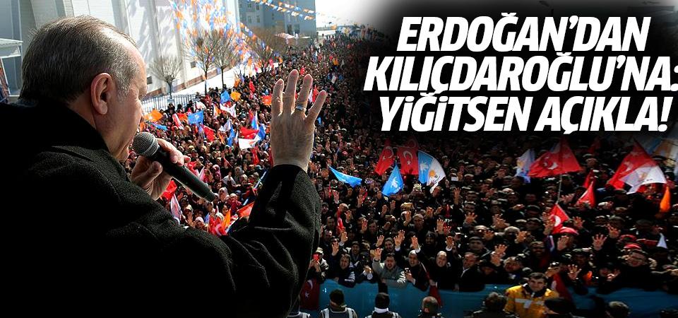 Erdoğan'dan Kılıçdaroğlu'na: Eğer yiğitsen PYD'nin terör örgütü olduğunu açıkla