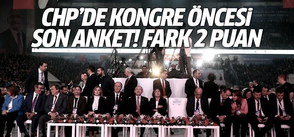 CHP'de kongre öncesi son anket! Fark 2 puan