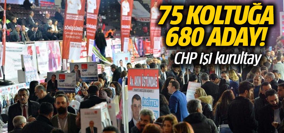 CHP Kurultayı'nda yüzlerce aday var