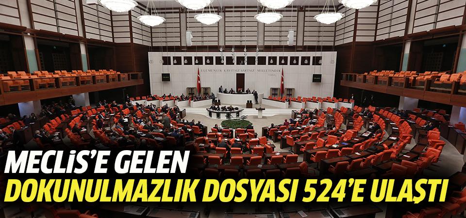 Meclis'e gelen dokunulmazlık dosyası 524'e ulaştı
