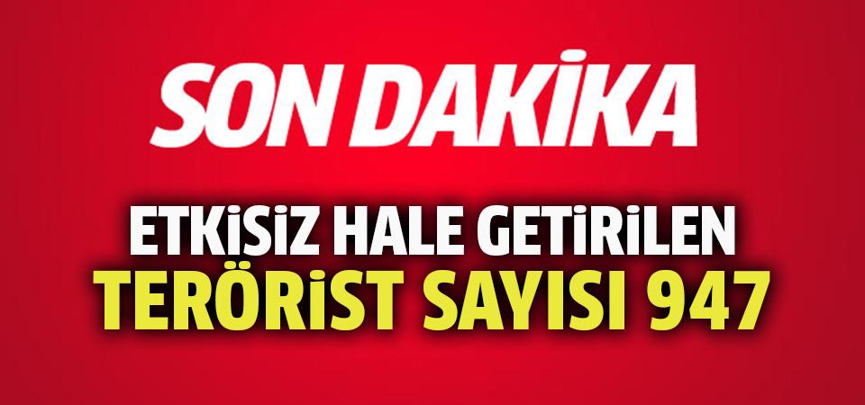 TSK: 947 terörist etkisiz hale getirildi