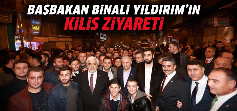 Başbakan Binali Yıldırım'ın PYD/PKK'nın roketle saldırdığı camiyi ziyaret etti