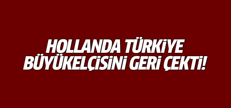 Hollanda, Türkiye Büyükelçisini geri çekti!