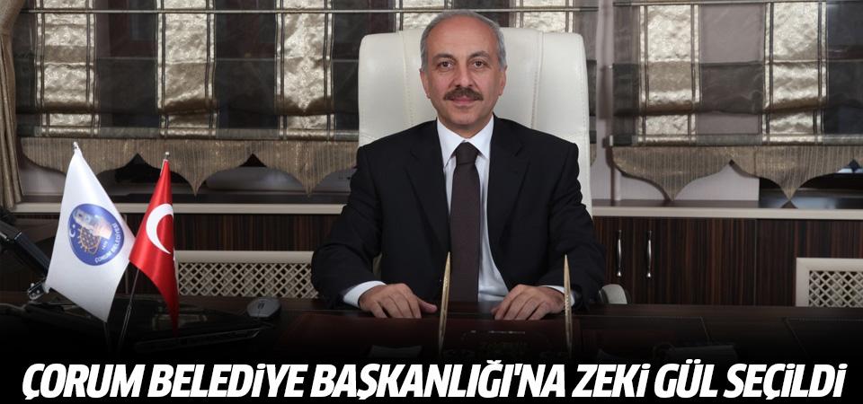 Çorum Belediye Başkanlığı'na Zeki Gül seçildi