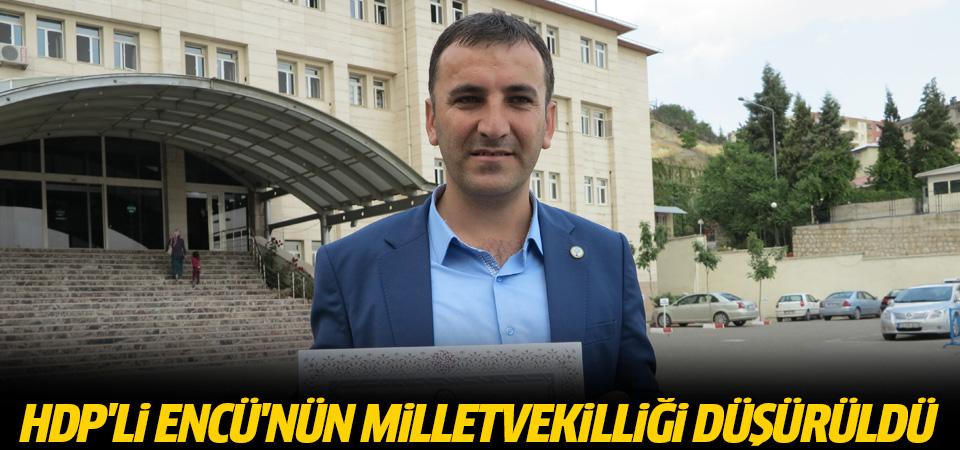 HDP'li Encü'nün milletvekilliği düşürüldü