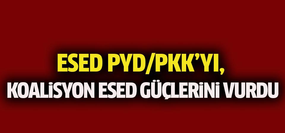 Esed PYD/PKK'yı, DEAŞ karşıtı koalisyon güçleri de Esed'i vurdu