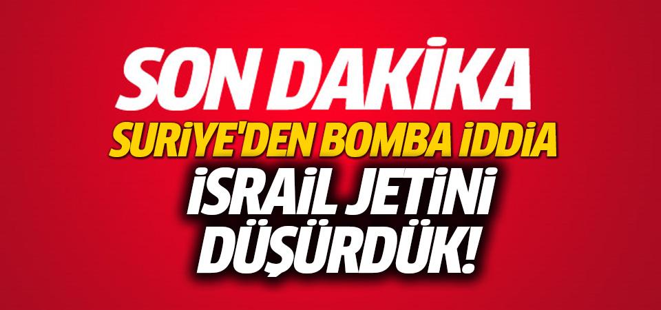 Flaş açıklama: İsrail jetini düşürdük