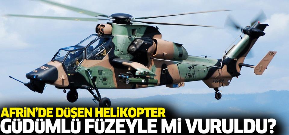 Düşen helikopter güdümlü füzeyle mi vuruldu?