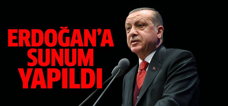 AK Parti-MHP seçim ittifakı çalışmalarında Cumhurbaşkanı Erdoğan'a sunum