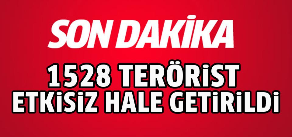 Zeytin Dalı Harekatı'nda etkisiz hale getirilen terörist sayısı 1528'e çıktı
