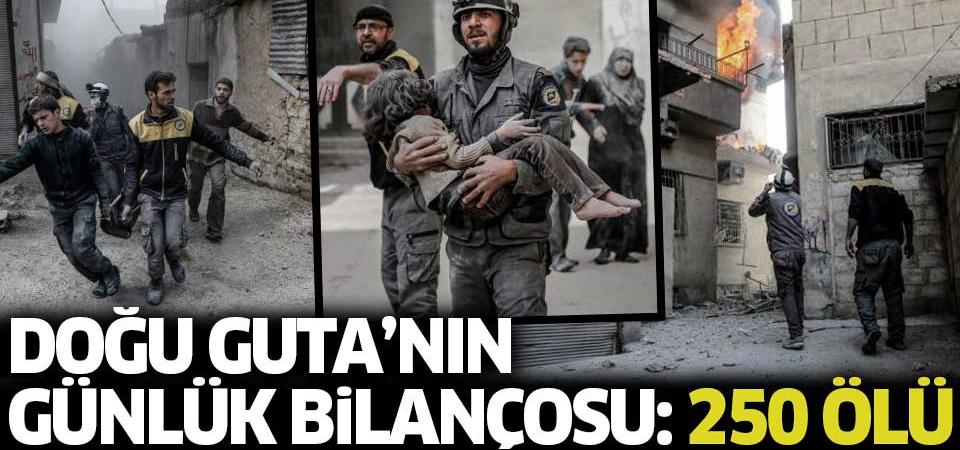 Doğu Guta'nın iki günlük bilançosu: 250 kişi öldü