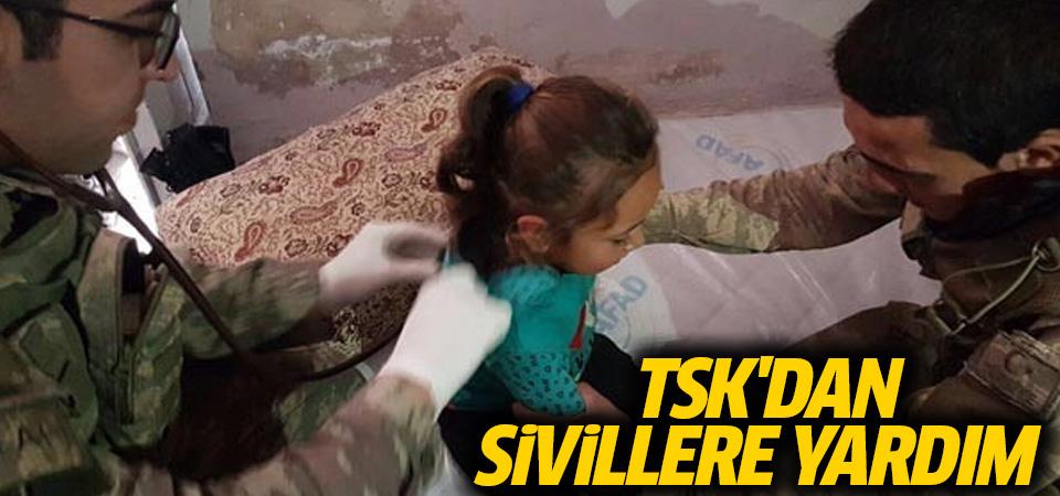TSK'dan Afrin'de sivillere sağlık desteği