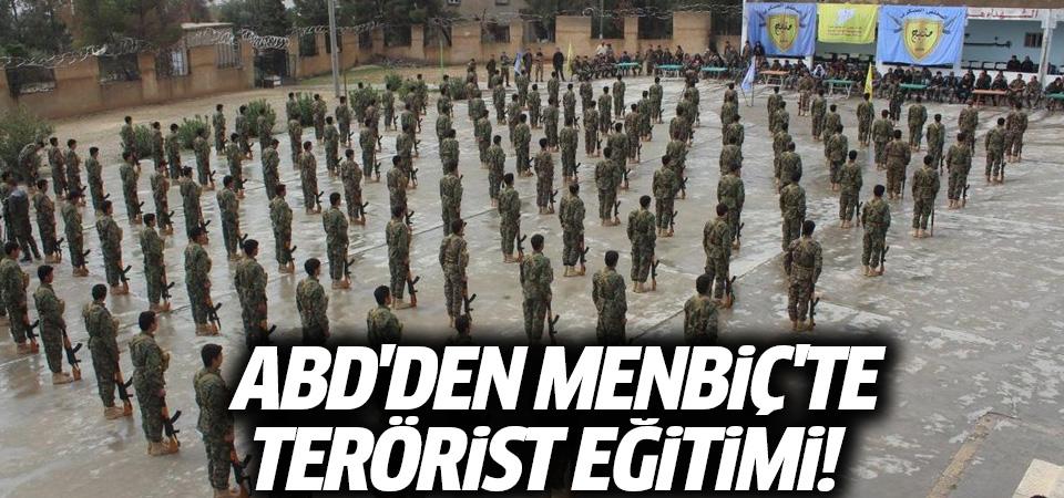 Menbiç'te YPG bayrakları altında Amerikan askeri eğitimi