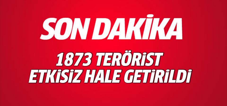 Zeytin Dalı Harekatı'nda etkisiz hale getirilen terörist sayısı 1873'e çıktı