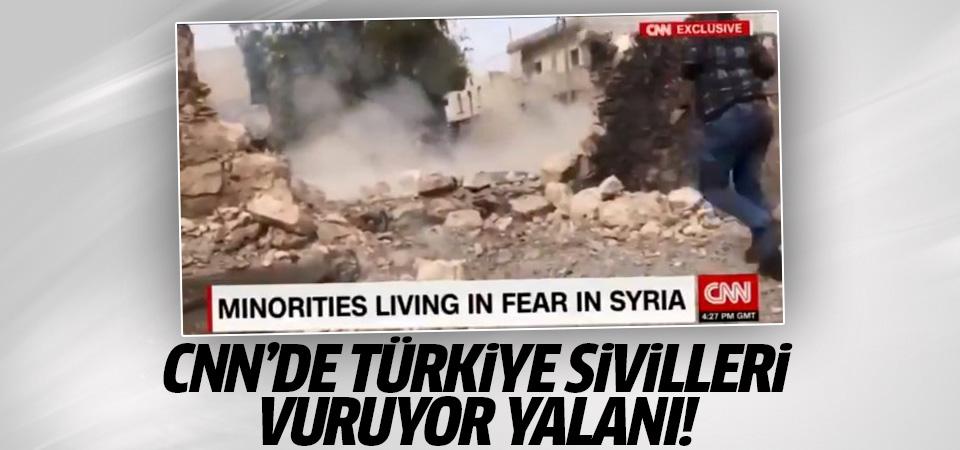 CNN'de Türkiye sivilleri vuruyor yalanı