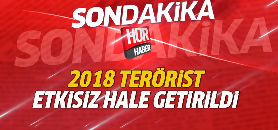 Zeytin Dalı Harekatı'nda 2018 terörist etkisiz hale getirildi
