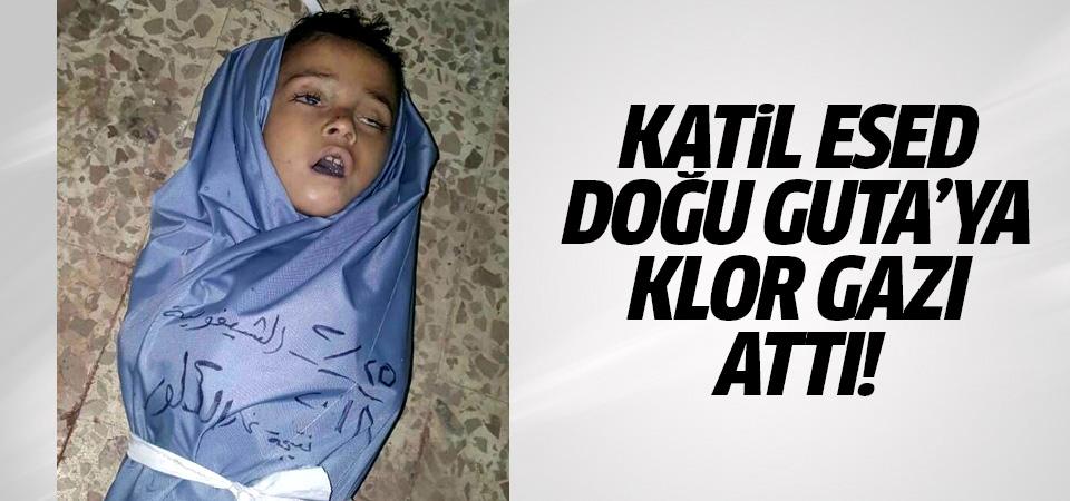 Katil Esed Doğu Guta'ya klor gazı attı