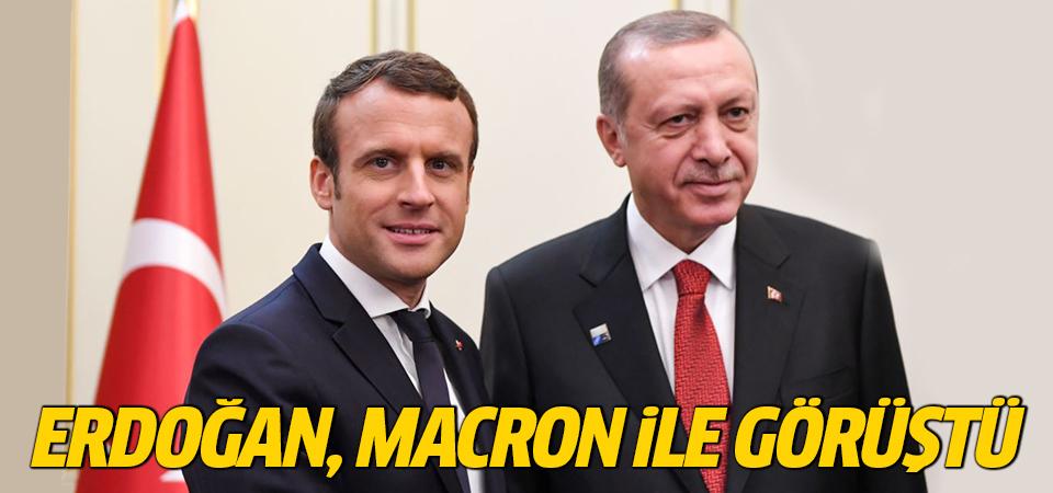 Cumhurbaşkanı Erdoğan, Fransız mevkidaşı Macron ile görüştü