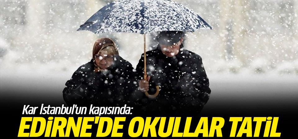 Kar İstanbul'un kapısında: İlk okul tatili