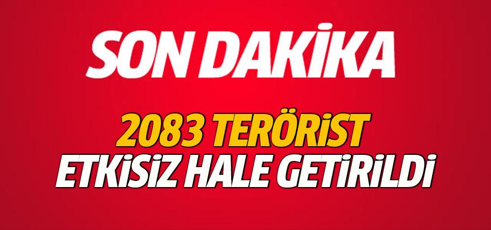 Zeytin Dalı Harekatı'nda 2083 terörist etkisiz hale getirildi
