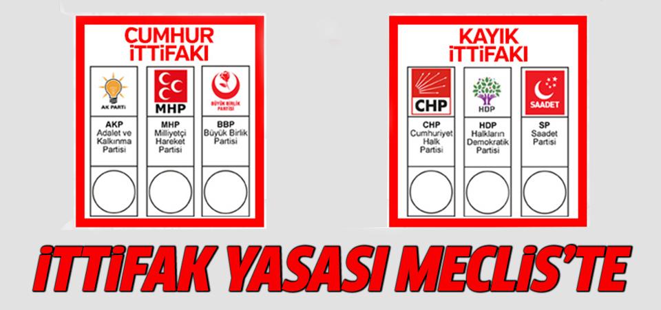 Seçim ittifakı teklifi TBMM'de