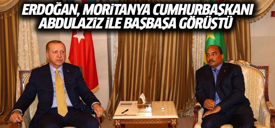 Erdoğan, Moritanya Cumhurbaşkanı Abdulaziz ile baş başa görüştü