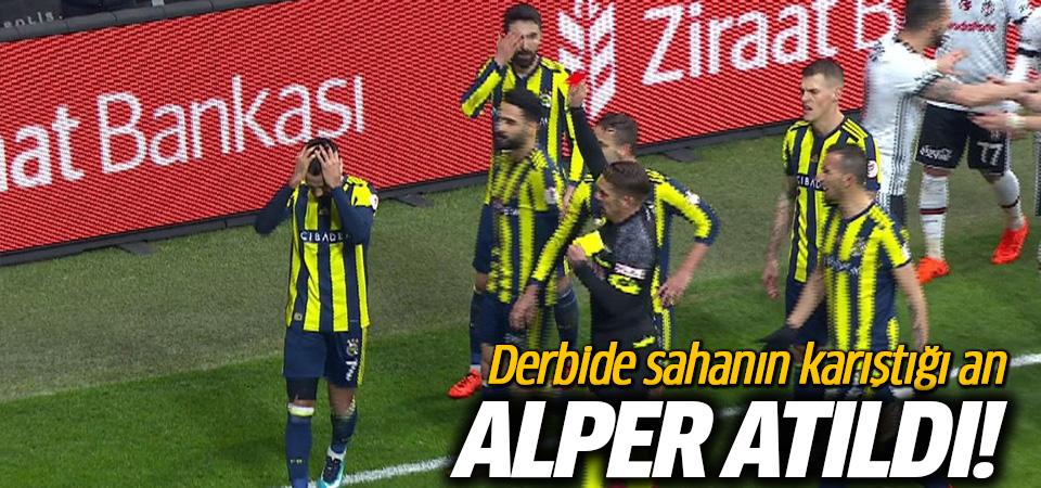 Fenerbahçeli Alper Potuk kırmızı kart gördü