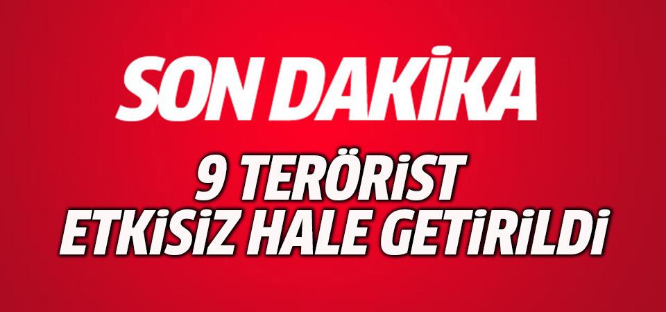 ATAK helikopteri vurdu: 9 terörist etkisiz hale getirildi