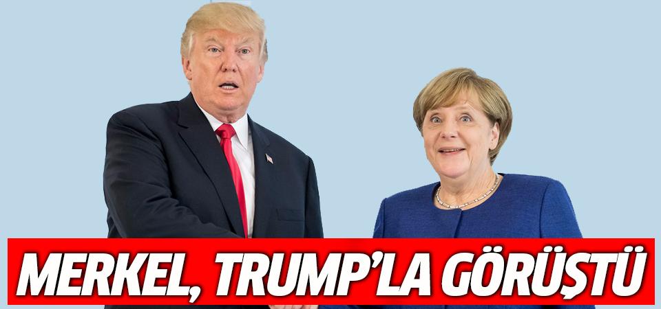 Merkel ve Trump telefonda Suriye'deki durumu görüştü